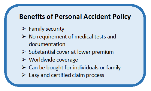 personal accident insurance policy Personal accident insurance policy from bajaj allianz premium personal guard policy (ppg) takes care of unexpected accidents this accidental insurance cover provides cashless facility, easy claim settlement and tax benefits.